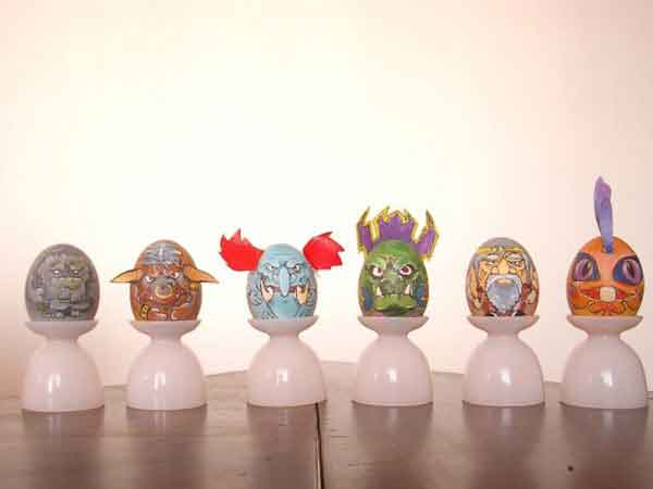 Creative Easter Eggs Designs Talk Cock Sing Song