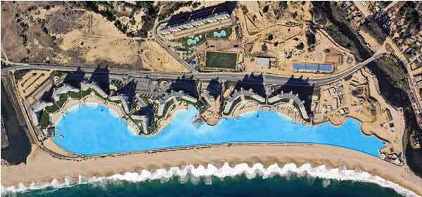 Longest swimming pool in the world in chile 1km long 250 - How long after you shock a pool can you swim ...