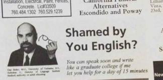 Failed Newspaper Advertisement Talk Cock Sing Song