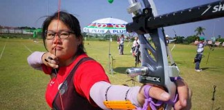 First Archery Gold for Singapore Talk Cock Sing Song