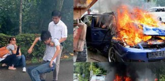Singapore Hero Pulls Man Out of Burning Car Talk Cock Sing Song