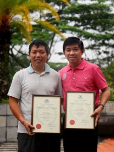 Singapore Heroes Received Awards from Singapore Civil Defence Force Talk Cock Sing Song