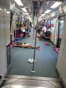 Singapore Strips Naked Man on MRT Train Arrested Talk Cock Sing Song