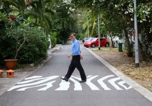Unusual Zebra Crossing at Meyer Road Talk Cock Sing Song