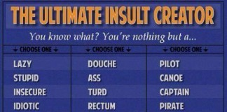 The Ultimate Insult Creator Talk Cock Sing Song