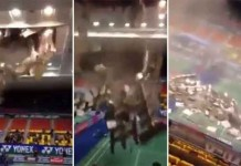 Ceiling Collapses During Badminton Competition in Vietnam Talk Cock Sing Song