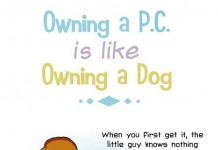 Owning a P.C. is like Owning a Dog Talk Cock Sing Song