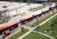 Heavily Jam at New Bedok Bus Interchange Talk Cock Sing Song