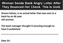 Woman Sends Bank Angry Letter After They Bounced Her Check Talk Cock Sing Song
