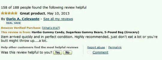 Funny Amazon Haribo Gummy Bear Reviews Talk Cock Sing Song