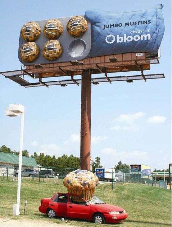 Bloom Grocery Store Creative Billboard Ad Talk Cock Sing Song