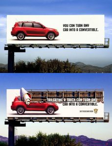Colorado State Patrol Give Trucks More Room Billboard Ads Talk Cock Sing Song