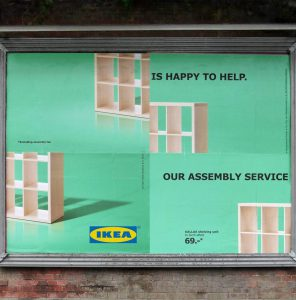 IKEA Assembly Service Billboard Ad Talk Cock Sing Song
