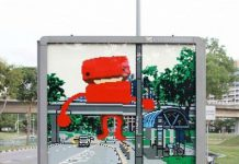 LEGO Creative Bus-stop Ad in Singapore Talk Cock Sing Song
