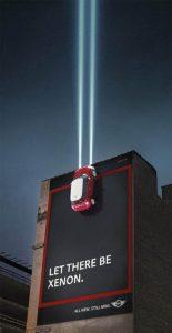 Mini Xenon Billboard Ad Talk Cock Sing Song