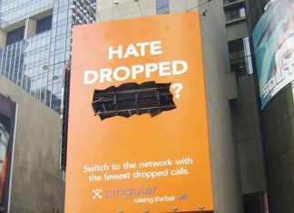 Mobile Network Company Cingular Creative Dropped Call Ad