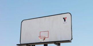 YMCA Basketball Hoop Billboard Ad Talk Cock Sing Song