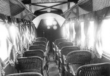 1930's Interior of an Airplane Talk Cock Sing Song
