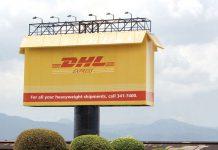 DHL Express Box Billboard Ad Talk Cock Sing Song