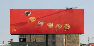 McDonald's Sundial Clock Creative Billboard Ad Talk Cock Sing Song