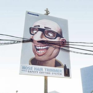 Panasonic Nose Hair Trimmer Creative Billboard Ad Talk Cock Sing Song